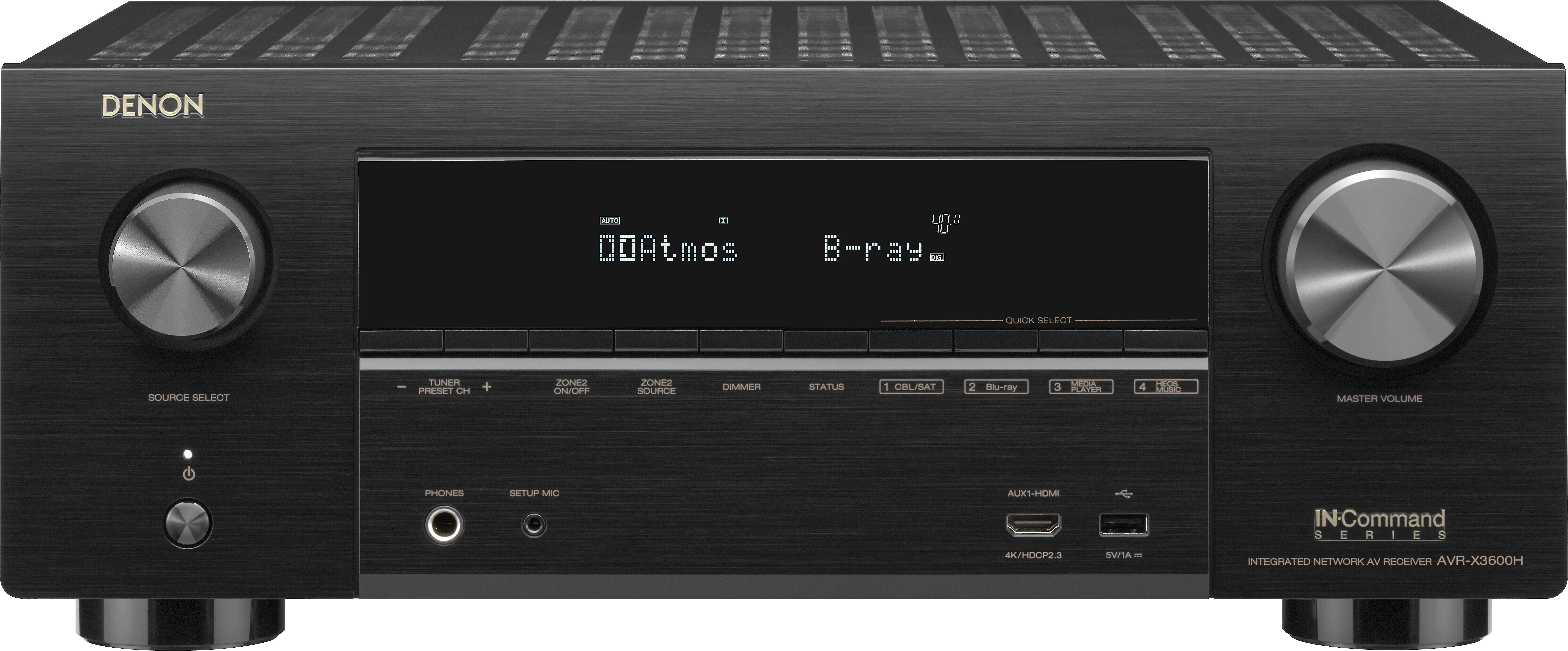 Denon AVR X3600H (2019 model) 9.2 channel home theater receiver with Wi Fi®, Bluetooth®, Apple® AirPlay® 2, and Amazon Alexa compatibility at