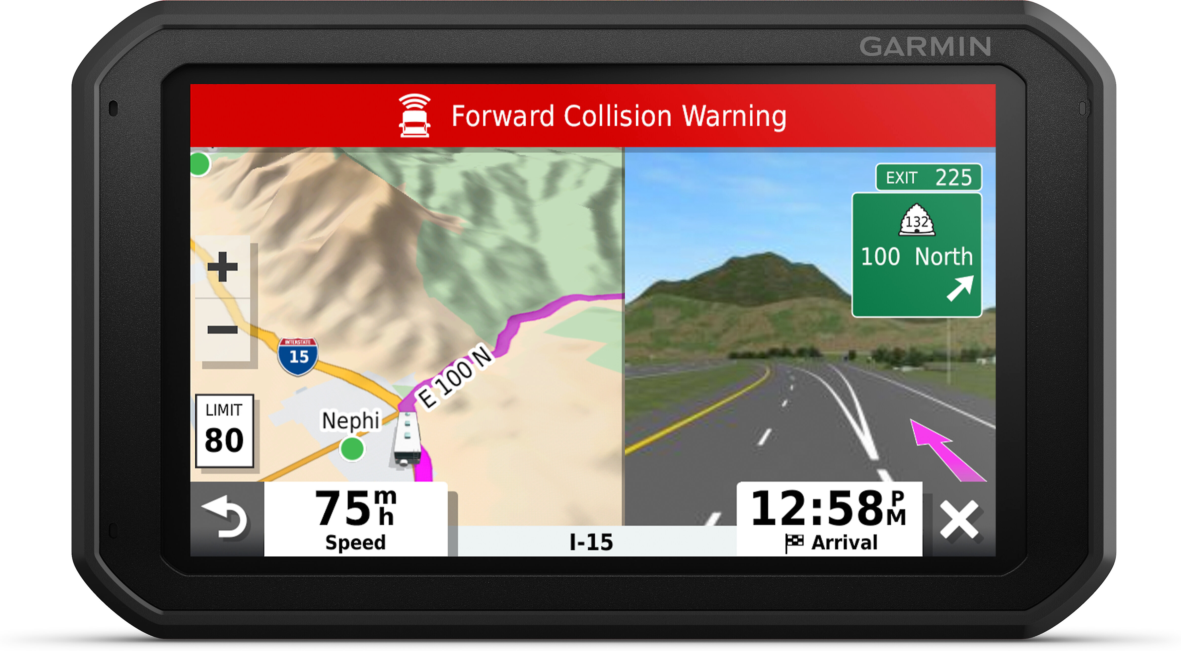 Garmin RV 785 & Traffic Portable navigator with dash cam and 7