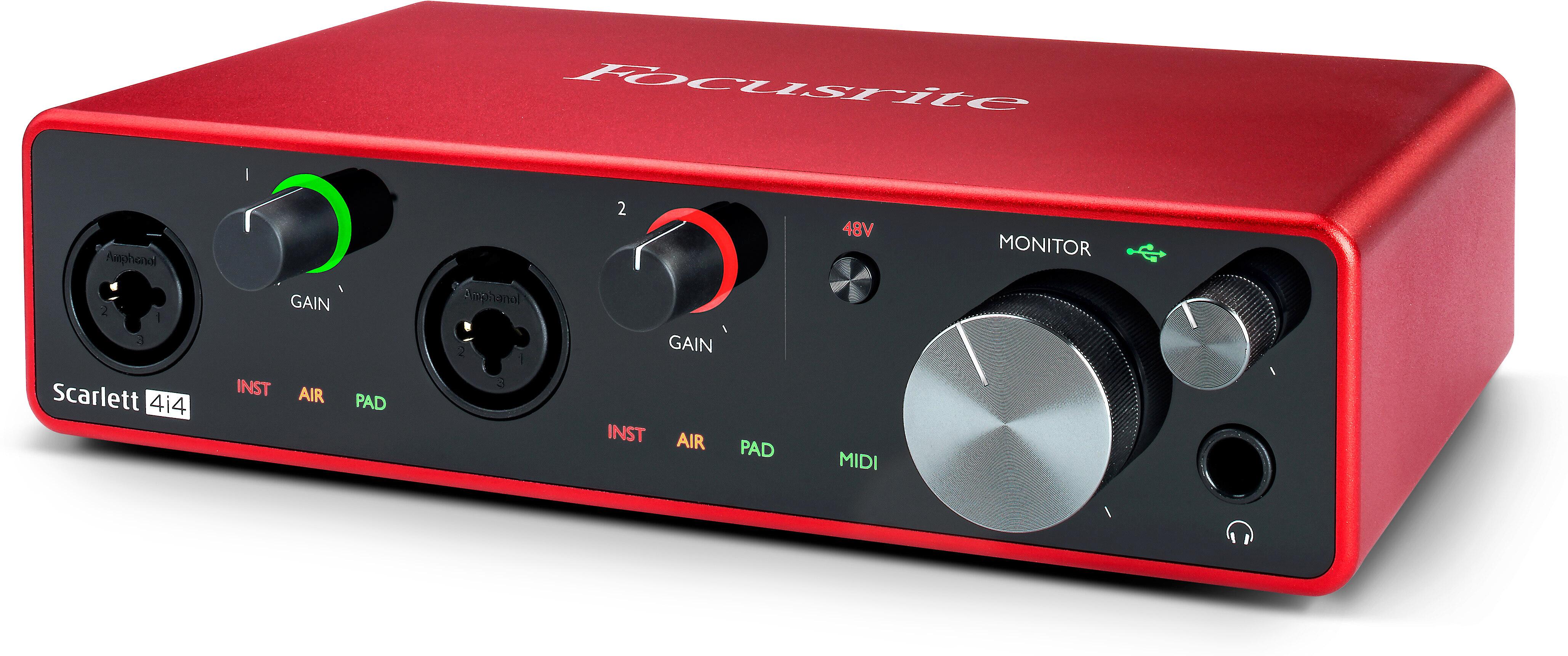 Focusrite Scarlett 4i4 Audio Interface 3rd Gen