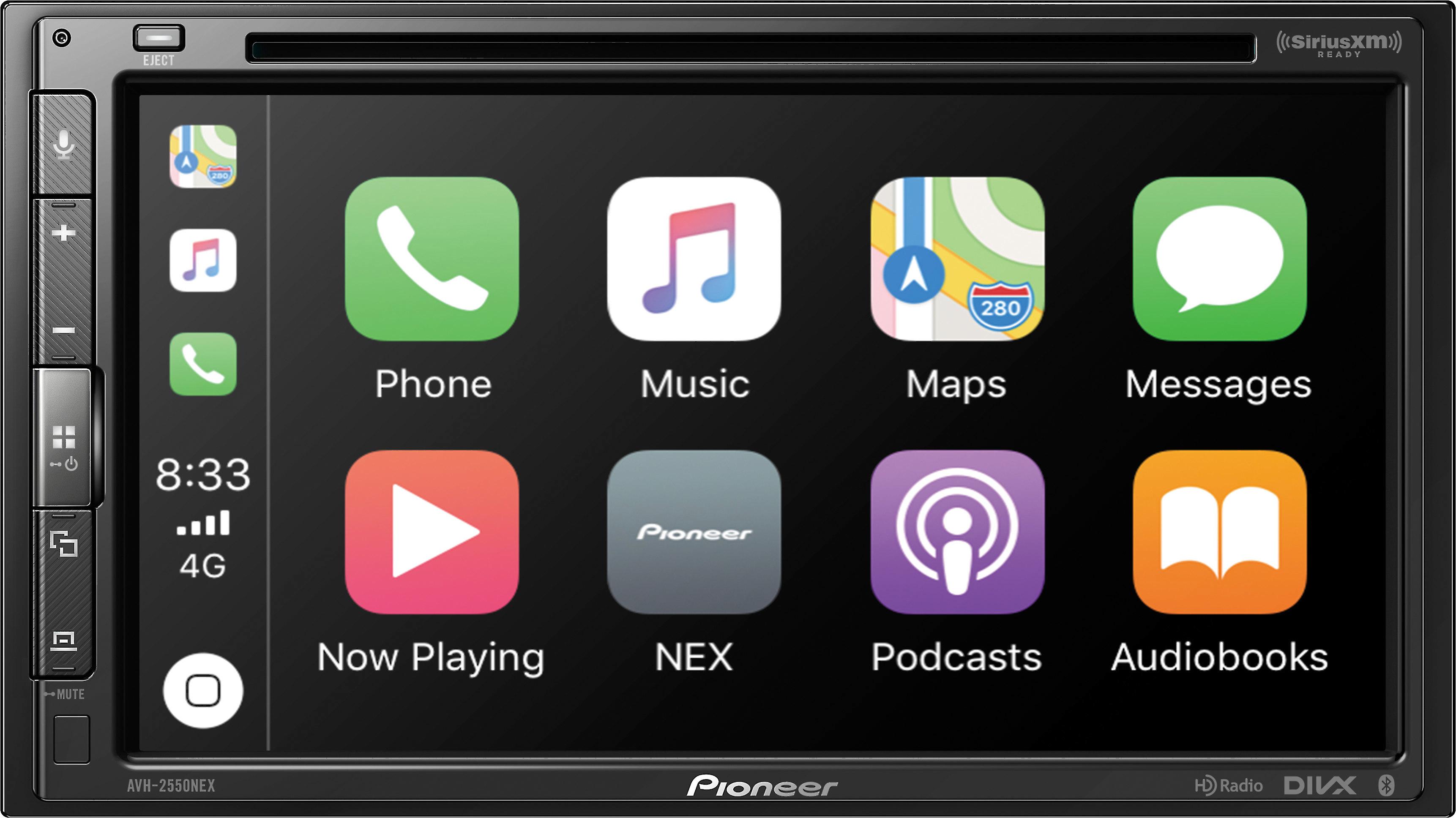 Replacement Remote Control for Pioneer AVH-291BT AVH-1550NEX AVH-1500NEX Car Audio Receiver