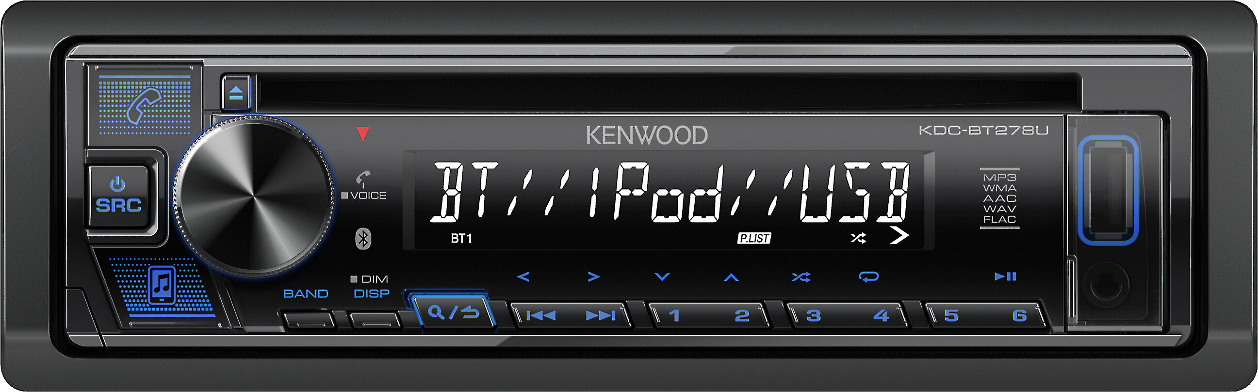 Kenwood KDC-BT278U CD//BT Audio Receiver