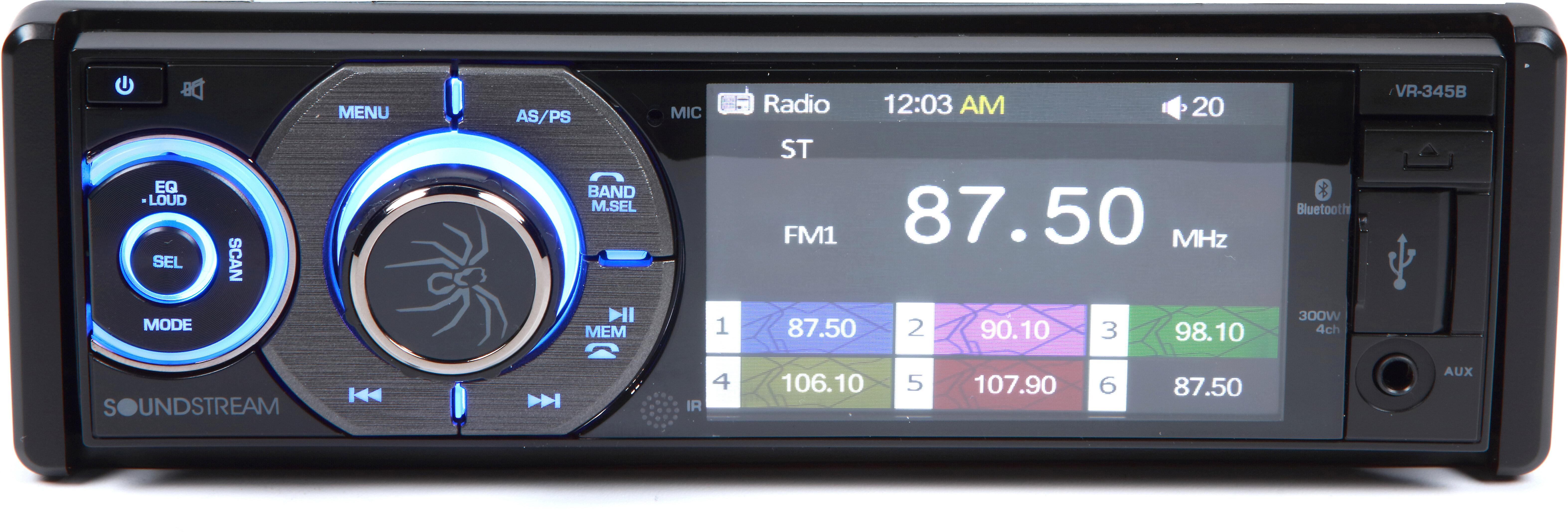 NEW SOUNDSTREAM BLUETOOTH CAR STEREO RADIO W// USB//AUX INPUTS W// INSTALLATION KIT