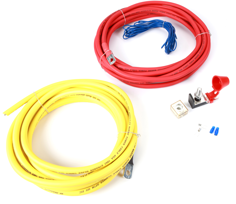 Kicker 47KMPK4 (4-gauge) Marine-grade amplifier wiring kit at CrutchfieldCrutchfield